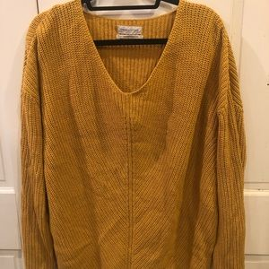 Oversized Mustard Urban Outfitters Sweater Size S